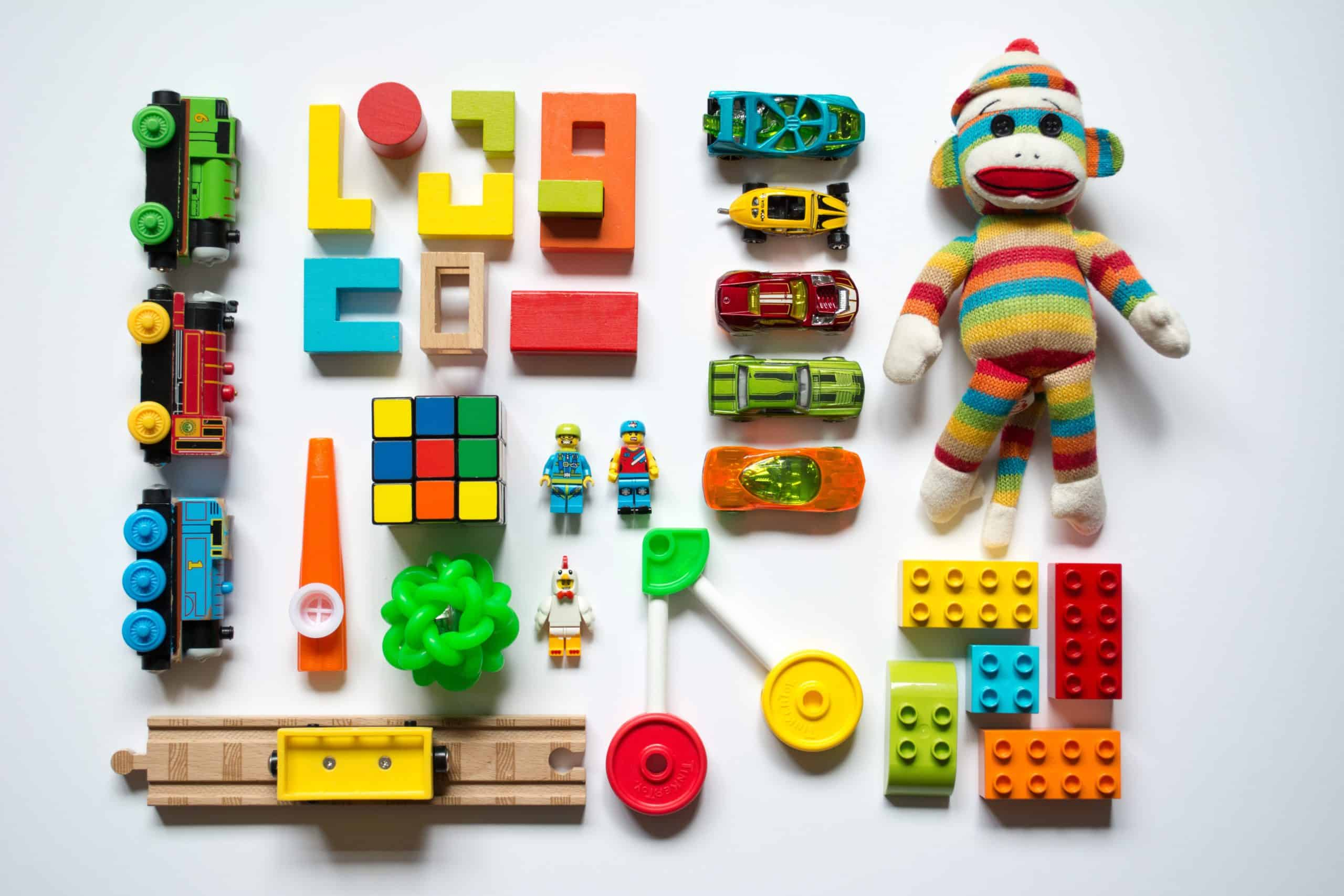 various colorful toys